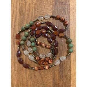 Long Boho Beaded Necklace